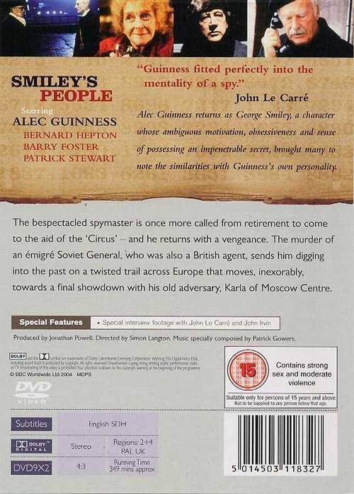 essay on smiley s people and spy John le carre is a celebrated british spy writer who is famous for his karla trilogy among other interesting books on that note, this essay aims to discuss the similarities of his main characters in the trilogy namely george smiley and karla.